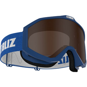 Bliz Liner Lunettes de protection Verre contraste, blue-white/brown